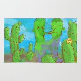 Kissing Cactus Rug