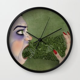 Don't Put Words In My Mouth Wall Clock