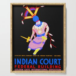 Arizona Apache Devil Dancer - Native American Serving Tray