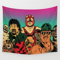 old school Wall Tapestries featuring OLD SCHOOL by alexis ziritt