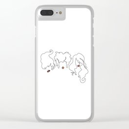 Sanderson Sisters Line Art Clear iPhone Case
