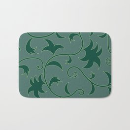Tropical Leaves Climbing Plants Solid Colors Bath Mat