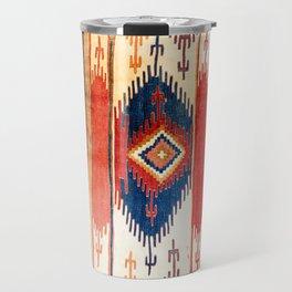 Aksaray Antique Cappadocian Turkish Kilim Print Travel Mug