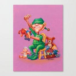 Elf Karl - Fluffy Animals & Dolls Department Canvas Print