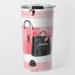 Fashion girl shopping Travel Mug