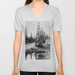 Los Angeles, Toluca Street, ca.1895-1901 Unisex V-Neck
