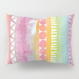 Watercolor Patterns Pillow Sham