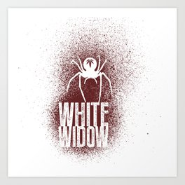 White Widow Art Print