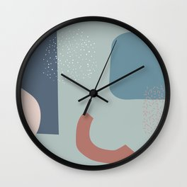 Wrapping a present Wall Clock