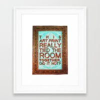 lebowski Framed Art Prints featuring Lebowski Rug by Flequillo