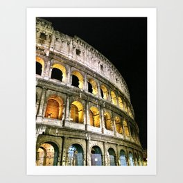 Il Colosseo - The Coliseum at Night (Rome, Italy) Art Print
