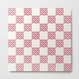 Geometric Minimalist Diamond Pattern Metal Print