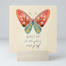 Botanical Butterfly: What if you fly? Mini Art Print