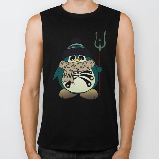 Harold The Penguin.Halloween character Biker Tank