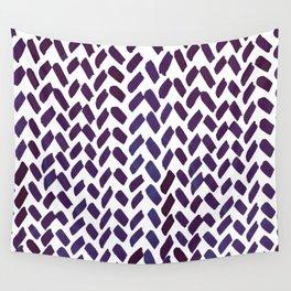 Cute watercolor knitting pattern - puple Wall Tapestry