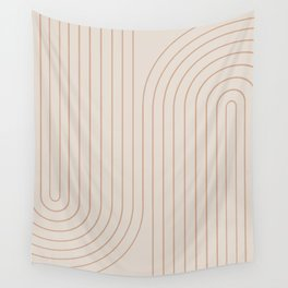 Minimal Line Curvature - Natural Wall Tapestry