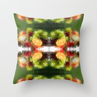 fruits Throw Pillows featuring Fruits by Veronika