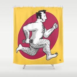 Finn running naked Shower Curtain