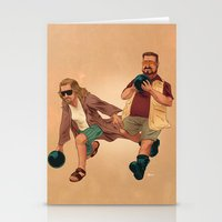 the big lebowski Stationery Cards featuring Big Lebowski by Dave Collinson