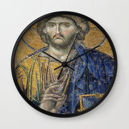 Christ Pantocrator Mosiac Upper Gallery Hagia Sophia Wall Clock