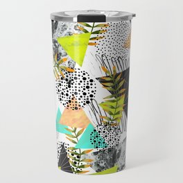 Triangles and plants Travel Mug