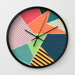 color segments 001 Wall Clock