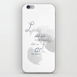 L'amour, c'est un art iPhone Skin