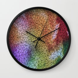 Low poly in Abstract Batik Wall Clock