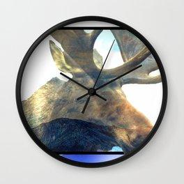 Melvin the Mountain Moose Wall Clock
