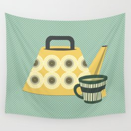 Mid Century Tea Time - Variation #3 Wall Tapestry