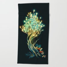 ElectriciTree Beach Towel