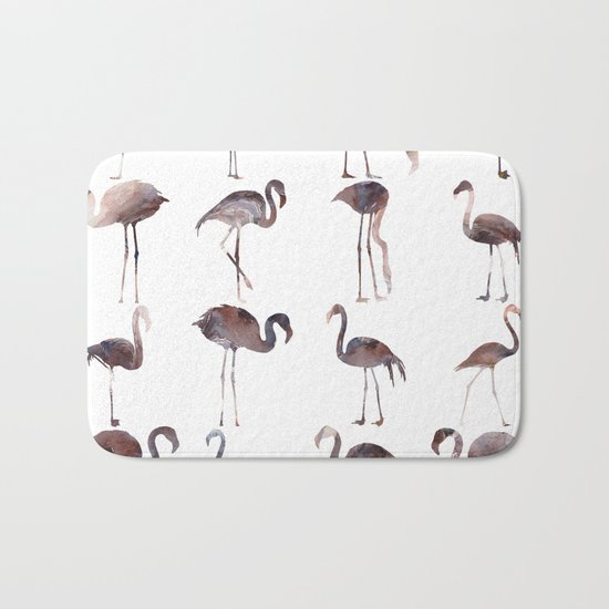 Flamingo Pattern Bath Mat