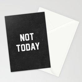 Not today - black version Stationery Cards