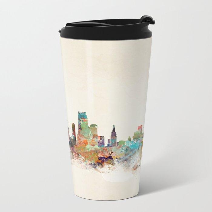 miami florida Metal Travel Mug