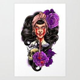 Pink Eyes Art Print