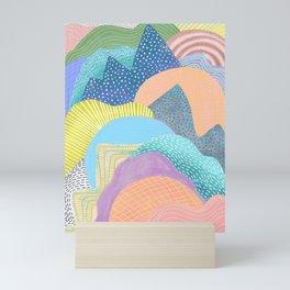 Modern Landscapes and Patterns Mini Art Print