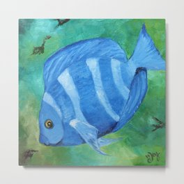 Tropical Fish - Blue Tang  Metal Print