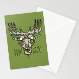 "Deer Head with humorous lettering ""OOOH, DEER!"" Stationery Cards"