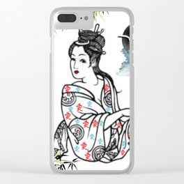 Oriental Dreaming Clear iPhone Case