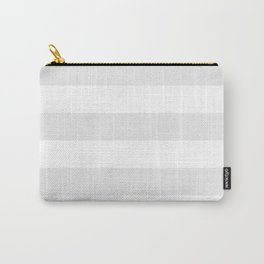 Horizontal Stripes - White and Pale Gray Carry-All Pouch