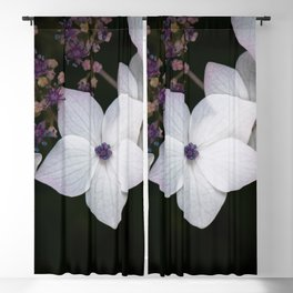 Purple and Blue Hydrangea Blackout Curtain