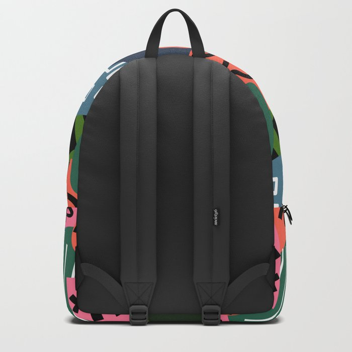 Abstract quilt Backpack