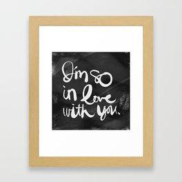 So In Love (Charcoal) Framed Art Print