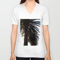 palm trees V-neck T-shirts featuring Palm Trees by Moonshine Paradise