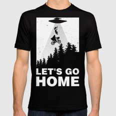 Let's go home MEDIUM Mens Fitted Tee Black