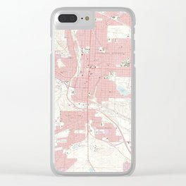 Vintage Map of Colorado Springs CO (1961) 2 Clear iPhone Case