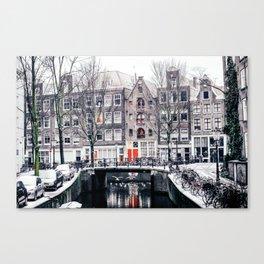 AMSTERDAM / Winter Magic Canvas Print