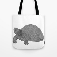 Turtle Illustration B/W Tote Bag