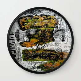 Destination Nowhere - Mixed Media Acrylic Pebeo Abstract Modern Art, 2015 Wall Clock