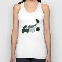sheep Tank Tops featuring Sheep by Yuliya